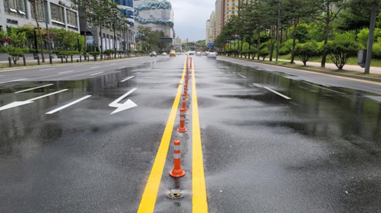 수원컨벤션센터 주변 도로에 '노면 빗물분사시스템' 설치